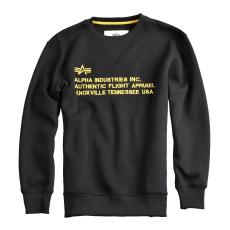 Alpha Industries AFA Crew Neck - fekete pulóver