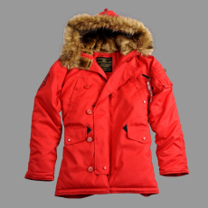 Alpha Industries Explorer - speed red kabát