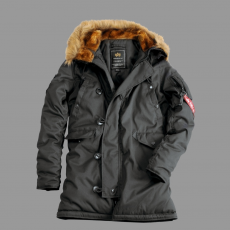 Alpha Industries Explorer női valódi szőrmével - replica szürke kabát