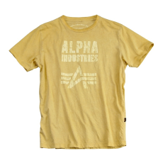 Alpha Industries Crack Print T - sárga
