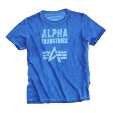 Alpha Industries Crack Print T - kék