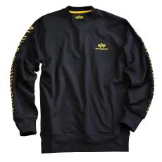 Alpha Industries Track II Crew Neck - fekete/sárga