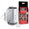 Weber RapidFire Szett (begyújtókémény + 2kg brikett + begyújtó kocka)
