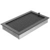 Kratki Fekete Ezüst Szellőzőrács Standard 22x37 Redőnnyel