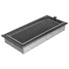 Ezüst - Fekete Szellőzőrács Oscar 17x37 Redőnnyel