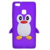 Huawei Ascend P9 Lite Szilikon Tok 3D Pingvin Lila