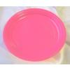Pinkrózsaszín műanyag tányér (21 vm) - 10 db