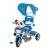 Vegatoys Pandás fedeles tricikli, kék