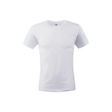 KEYA unisex pamut póló, fehér (Keya unisex környakas pamut póló, 180g/m2, 100% gyűrü fonásu pamut.)