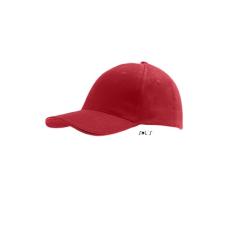 SOLS Sol´s sapka, 6 paneles, U, piros