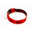 Sokdog piros, csontmintás nyakörv L