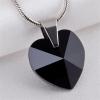 . Nyaklánc, Crystals from SWAROVSKI® kristályos szív alakú medállal, éjfekete