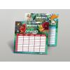 Angry Birds Órarend, kétoldalas, mini, 150x80 mm, ANGRY BIRDS MOVIE