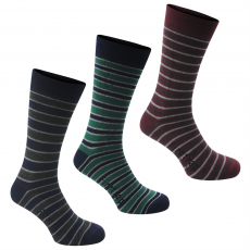 Firetrap Zokni Firetrap Blackseal Mixed Stripe 3 Pack fér.