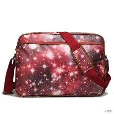 Miss Lulu London LG1624U - Miss Lulumattte Oilcloth oldal táska táska Universe piros