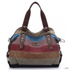 Miss Lulu London E1677- Miss Lulu női válltáska táska oldal táska Rainbow csíkos