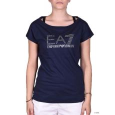 EmporioArmani Női Rövid ujjú T Shirt WOMANS KNIT JERSEY COBALT