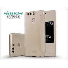 Huawei P9 oldalra nyíló flipes tok - Nillkin Sparkle - gold tok és táska