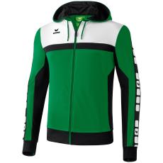 Erima 5-CUBES Training Jacket with Hood zöld/fekete/fehér melegítő felső