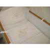 Babaágynemű garnitúra 3 részes - Hímzett arany csillagfüzéres maci
