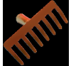 Erősített lemez gereblye 8 fogú (10395) gereblye, lombseprű