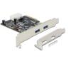 DELOCK PCI Express x4 Card > 2 x external SuperSpeed USB 10 Gbps (USB 3.1, Gen 2) type A female...