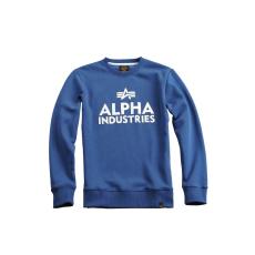 Alpha Industries Foam Print Sweater - ocean blue