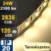 LED szalag beltéri (2835-120) - természetes fehér Legerősebb!
