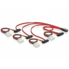 DELOCK Cable mini SAS 36pin to 4x SAS 29pin (SFF 8087 > 4x SFF 8482 + Power) 50cm (83059)