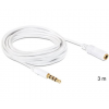 DELOCK Cable Audio Stereo Jack 3.5 mm male / female IPhone 4 pin 3m (84483)
