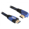 DELOCK Cable High Speed HDMI with Ethernet male/male angled 2m (82956)