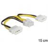 DELOCK Cable Power 8 Pin EPS > 2 x 4 Pin molex (83410)