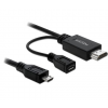 DELOCK Cable MHL male > High Speed HDMI male + USB-micro B female 1.5m (82990)