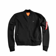 Alpha Industries X-Fit Sweat Jacket MA-1 - fekete