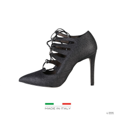 Made In Italia készült Italia női magassarkú cipő MORGANA_GLITTER_fekete