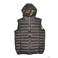 Dorko Férfi Mellény SNOWBALL VEST BLACK/CAMO