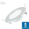 MINI LED Panel ezüst kör, 9W, természetes fehér (furat:105mm)