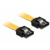 DELOCK Cable SATA 6 Gb/s straight/straight metal 10cm (82797)