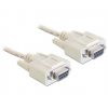 DELOCK Cable serial Null modem 9 pin female / female 5m (84250)