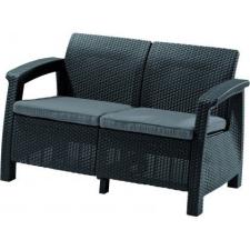 Kanapé CORFU LOVE SEAT - antracit kerti bútor