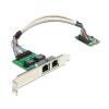 DELOCK mini PCI-E x1 10/100/1000Mbps hálózati kártya
