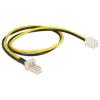 DELOCK Power 3pin Power 2pin M/F tápkábel 0.3m FAN