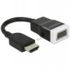 DELOCK HDMI -> VGA Jack stereo 3,5mm M/F adapter 0.15m fekete