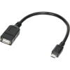 LogiLink USB micro B -> USB A M/F adatkábel 0.2m OTG fekete