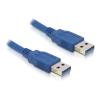 DELOCK USB 3.0 A M/M adatkábel 1m kék