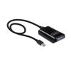 DELOCK USB 3.0 A -> VGA M/F adapter fekete kábel és adapter