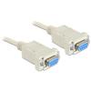 DELOCK Serial RS-232 F/F adatkábel 1.8m Null modem fehér