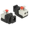 DELOCK DC 5,5x2,1mm -> Terminal block 2pin F/F adapter fekete