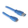 DELOCK USB 3.0 A -> USB 3.0 micro B M/M adatkábel 3m kék