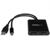 Startech Multi Stream Transport 2 portos displayport HUB